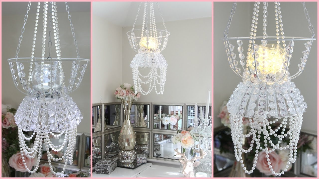Dollar tree chandelier room decor diy youtube dollar tree chandelier room decor diy mozeypictures Image collections