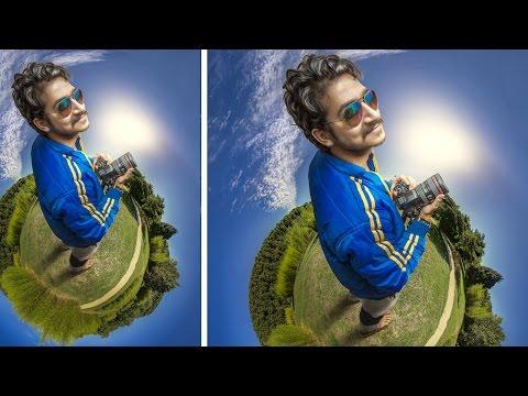 Photoshop CC | 360 Tiny Planet Manipulation Photo Effects Tutorial