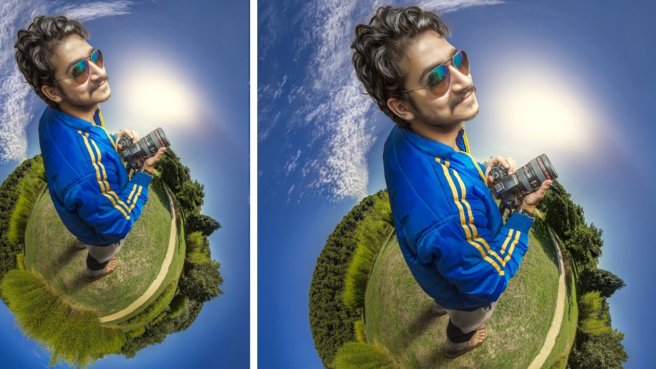 how to make small planets in Photoshop with aerial drone ...