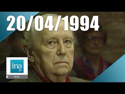 20h Antenne 2 du 20 avril 1994 - Paul Touvier condamné pour crime contre l'humanité | Archive INA