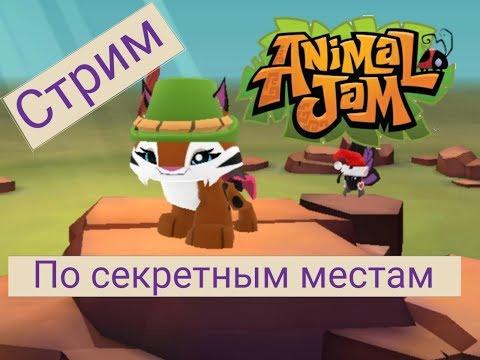 Стрим по секретным местам Animal Jam Play-Wild