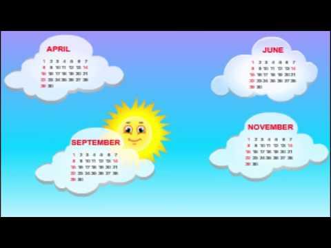 30 Days Has SeptemberNursery RhymesKindergarten SongsBed Time Songs
