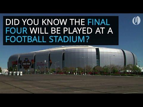 NCAA Final Four court is built inside football stadium