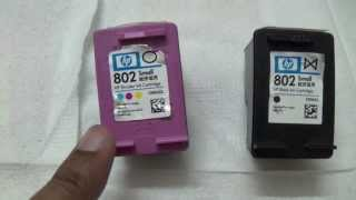 How to refill HP 802 cartridge at home part -I