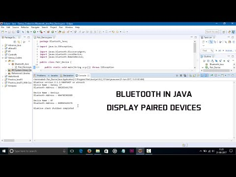 Bluetooth in Java (Paired Devices)