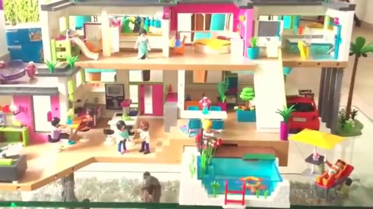 Playmobil re 39 s modern luxury mansion overview youtube for Salle de bain villa moderne playmobil