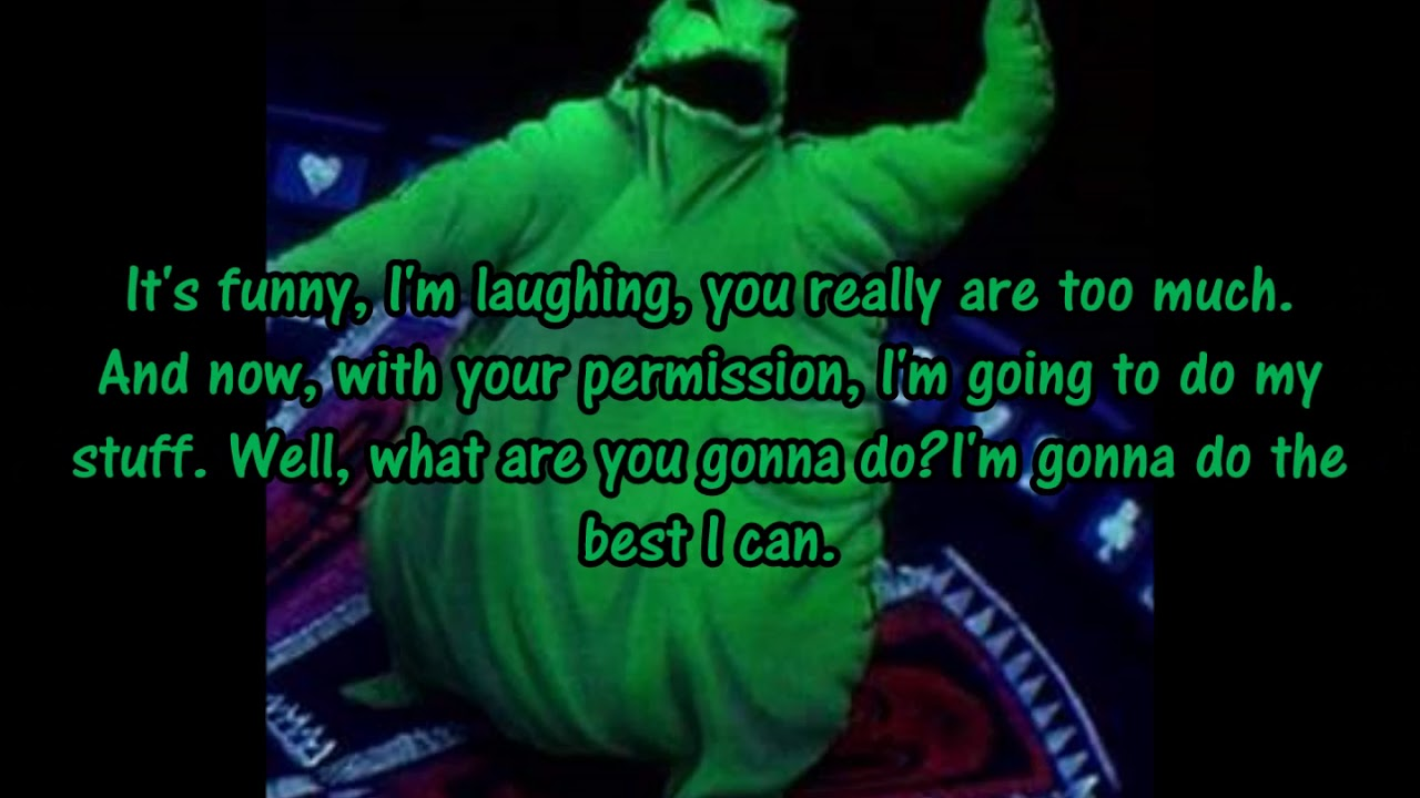 Oogie Boogie song from The nightmare before Christmas soundtrack ...