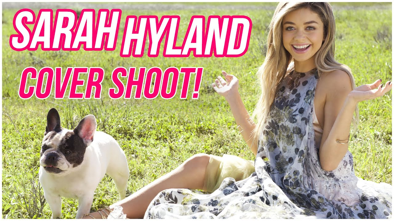 SARAH HYLAND Cover Shoot Behind the Scenes