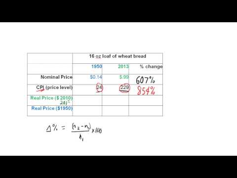 Tutorial: Calculating Real Price Change W- CPI (Macro HW 3, Problem 4)