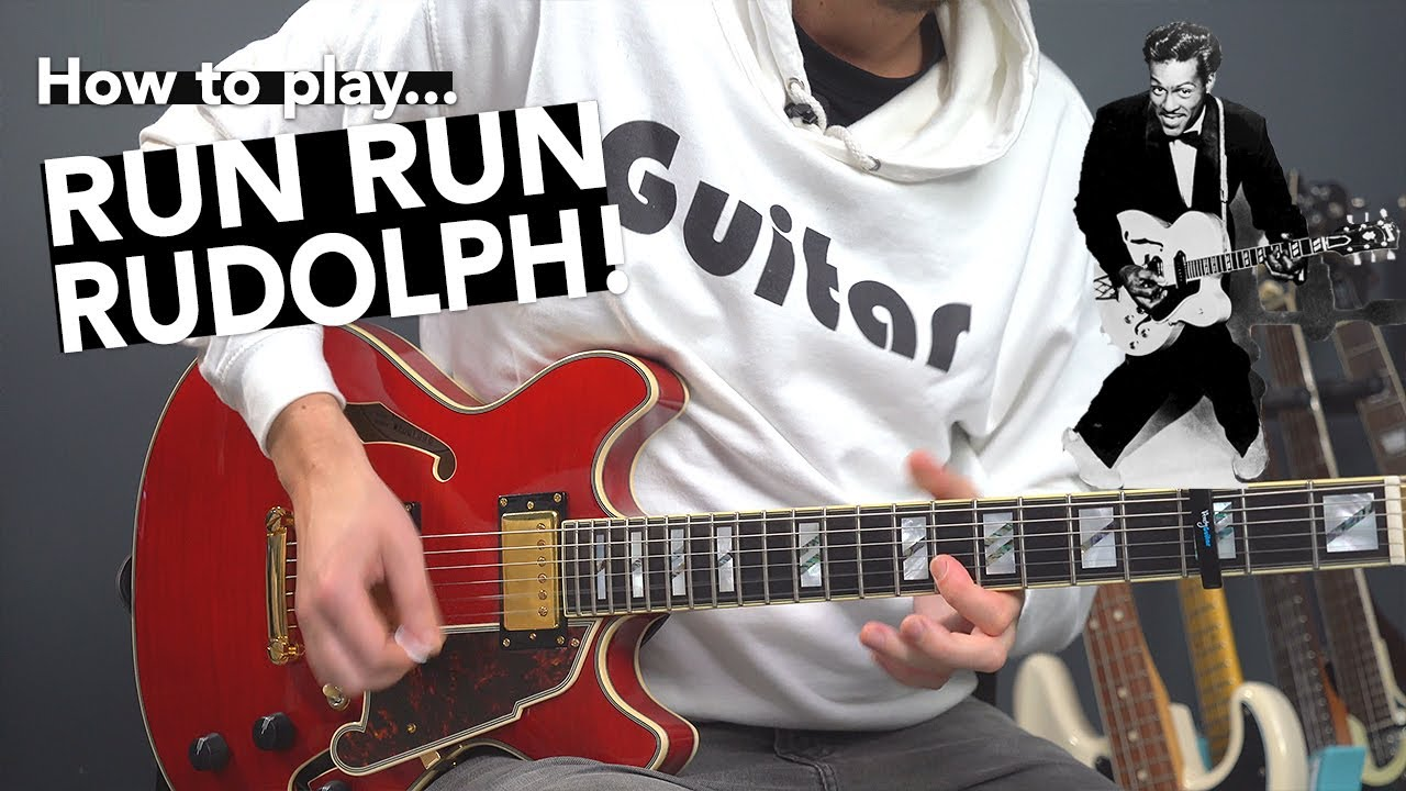 Learn 'RUN RUDOLPH RUN' with this EASY electric Christmas song tutorial