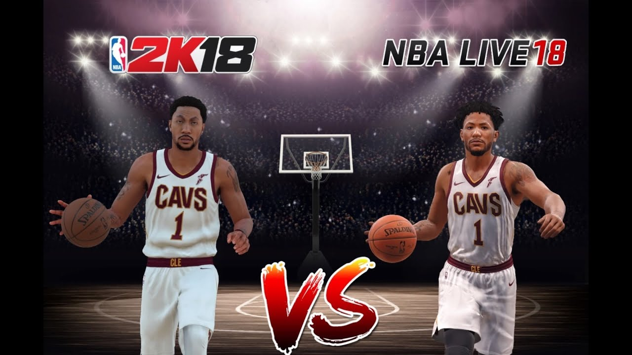 66a58a565146 NBA 2k18 Vs NBA LIVE 18 ( Derrick Rose ) - YouTube