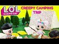 LOL SURPRISE Unicorn, Beatnik Babe, Pharaoh Babe, Flower Child Creepy Camping Trip Toy Suprises