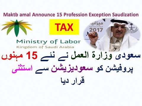 Ministry of Labour Announced 15 Profession Which Exception from Saudization till 2030 Wafideen Tax