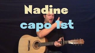 Nadine (Chuck Berry) Easy Guitar Lesson How to Play Tutorial Capo 1st Fret