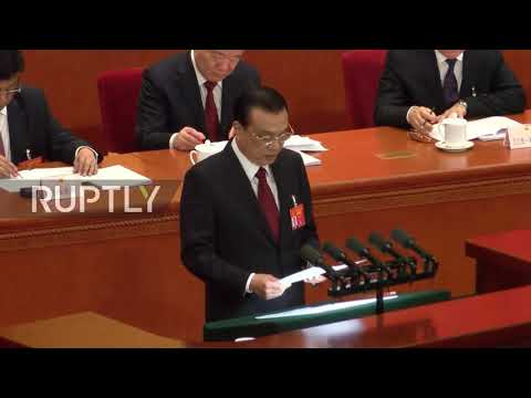 China: Premier Li Keqiang announces economic growth target of 6 to 6.5%