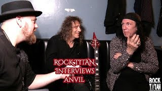 ANVIL  Steve Lips Kudlow and Robb Reiner backstage in philly