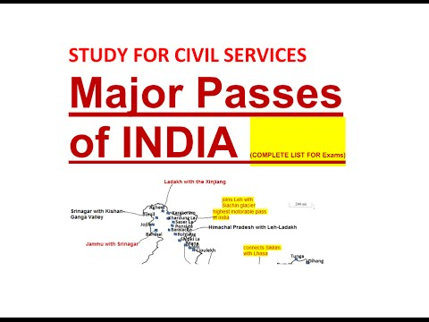 Major Mountain Passes of INDIA (COMPLETE LIST )