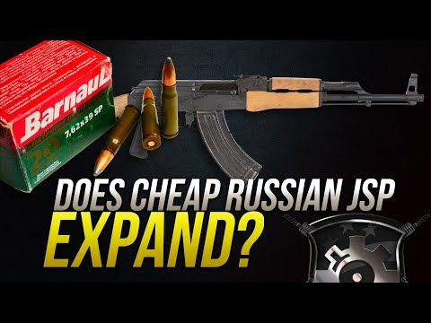 Does Cheap Russian JSP Expand? 7.62x39mm Barnaul 125gr Soft Point Gel Test