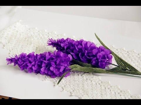 Tutorial lavender flower paper flower with crepe paper craft tutorial lavender flower paper flower with crepe paper craft tutorial simple and easy mightylinksfo