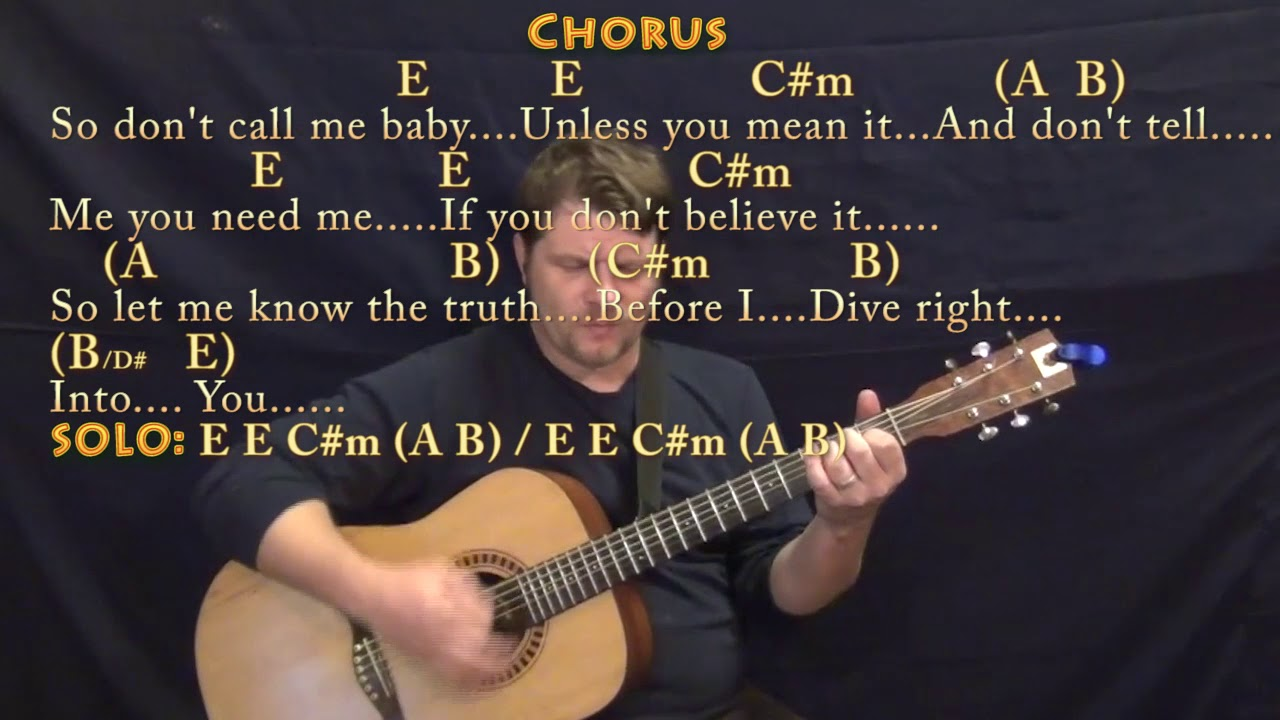 Dive Ed Sheeran Guitar Cover Lesson In E With Chordslyrics Youtube