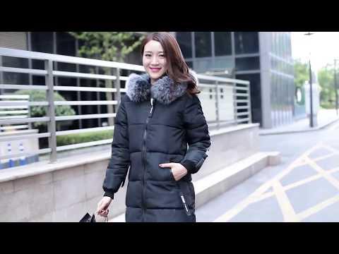 Áo Khoác Mùa đông Phụ Nữ 2017 Phiên Bản Hàn Quốc Của Chiếc áo Khoác Lông Thú Cổ Dài đệm Mùa đông Mới
