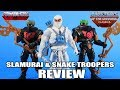 Slamurai & Snake Troopers Masters of the Universe Classics Figures Review