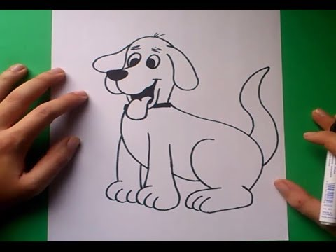 Como dibujar un perro paso a paso 8  How to draw a dog 8  YouTube
