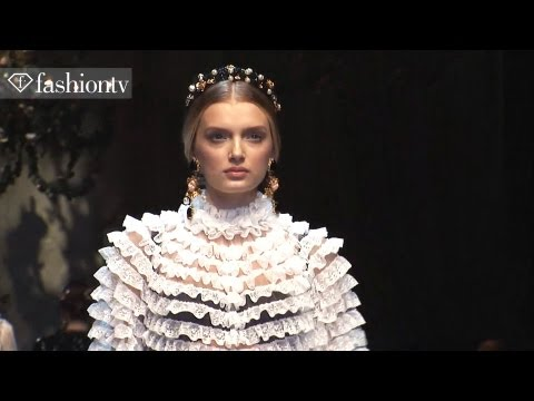 Dolce & Gabanna Fall 2012 Full Show ft Toni Garrn + Bianca Balti at Milan Fashion Week | FashionTV