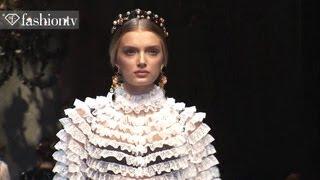 Dolce & Gabanna Fall 2012 Full Show ft Toni Garrn + Bianca Balti at Milan Fashion Week | FashionTV