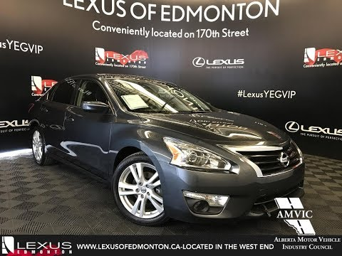 Used Gray 2013 Nissan Altima 3.5 SV Walkaround Review Beaumont Alberta