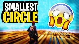 SMALLEST CIRCLE EVER! (Fortnite Battle Royale)