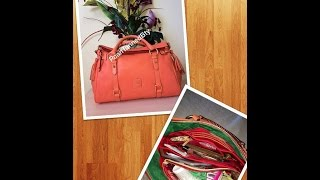 What's In My Bag??? - Florentine Satchel (salmon)