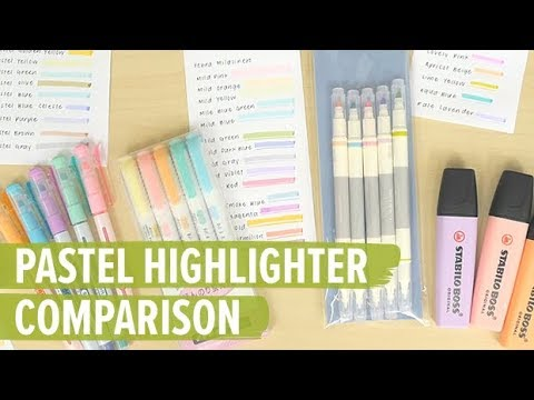Pastel Highlighters Comparison