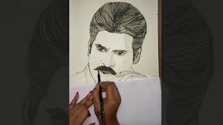 Drawing Pawan Kalyan  ( KatamaRayudu ) Sketch