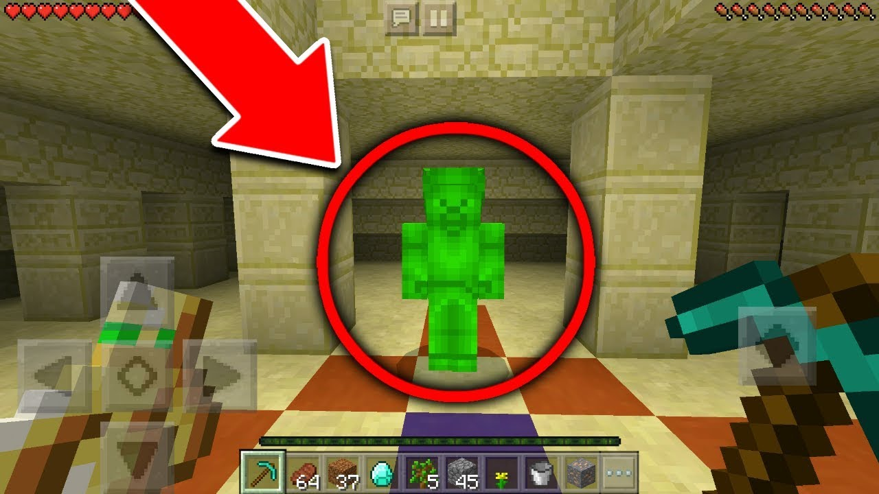 Finding Green Steve in Minecraft Pocket Edition Scary
