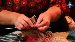 Как вязать спицами резинку у носка - Урок 3