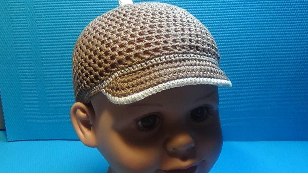 вязание крючком кепка для мальчика 159 Youtube