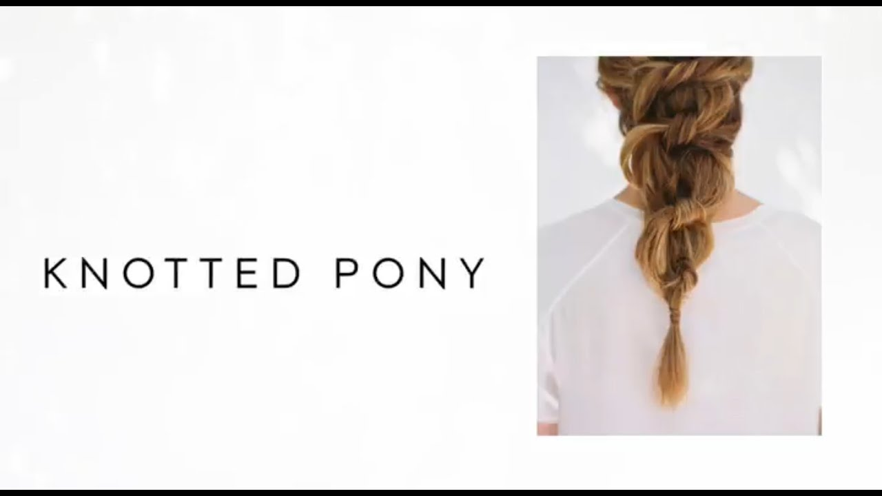 Diy knotted pony tail hair tutorial wedding hairstyles from once diy knotted pony tail hair tutorial wedding hairstyles from once wed youtube junglespirit Gallery