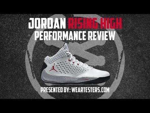 huge discount 3b5d5 6b079 Air Jordan Rising High Performance Review  WearTesters - YouTube