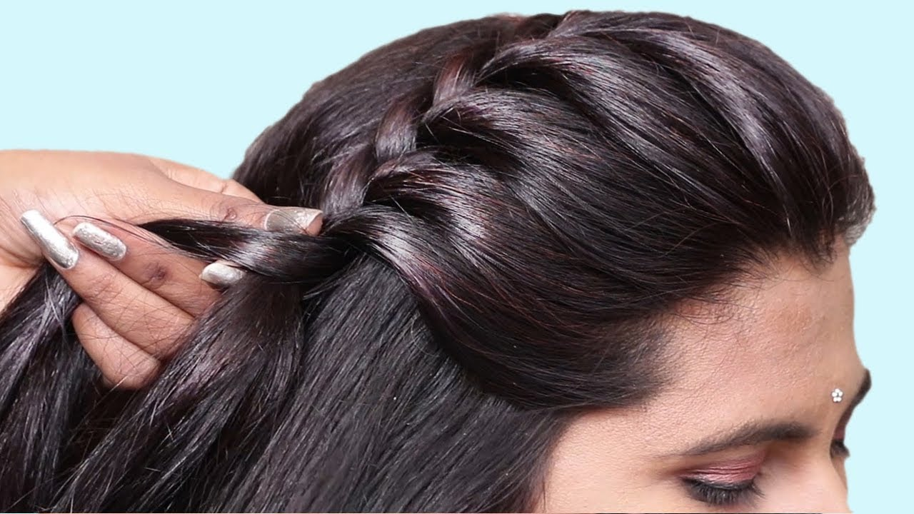 Simple Hairstyle For Everyday Use  Quick hairstyle for party/wedding   Easy Hairstyles