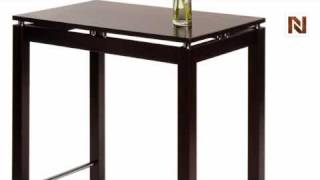 Winsome Linea Kitchen Island Table With Chrome Accent 92736