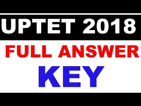 UPTET 2018 Primary Answer key