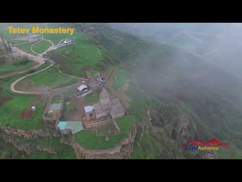 Bird's eye view of tourist attractions of Armenia