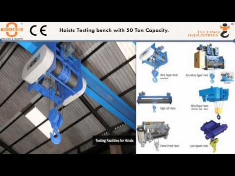 TACKLERS - Techno Industries EOT Crane Company Profile