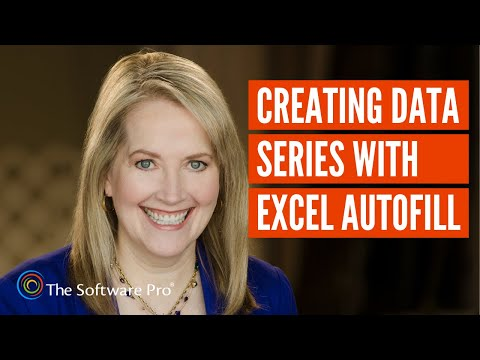 Microsoft Excel: Creating a Data Series with AutoFill thumbnail