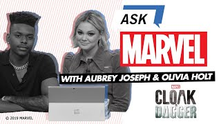 Aubrey Joseph & Olivia Holt answer YOUR Marvel's Cloak & Dagger questions! | Ask Marvel