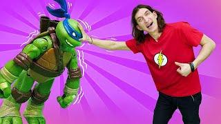 Смешное видео - Черепашки Ниндзя или Супергерои? - Шоу Фабрика Героев.