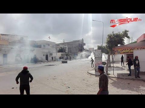 بالفيديو / سيدي بوعلي : غاز و مواجهات عنيفة بين الأمن و محتجين و نداء عاجل لرئاسة الحكومة