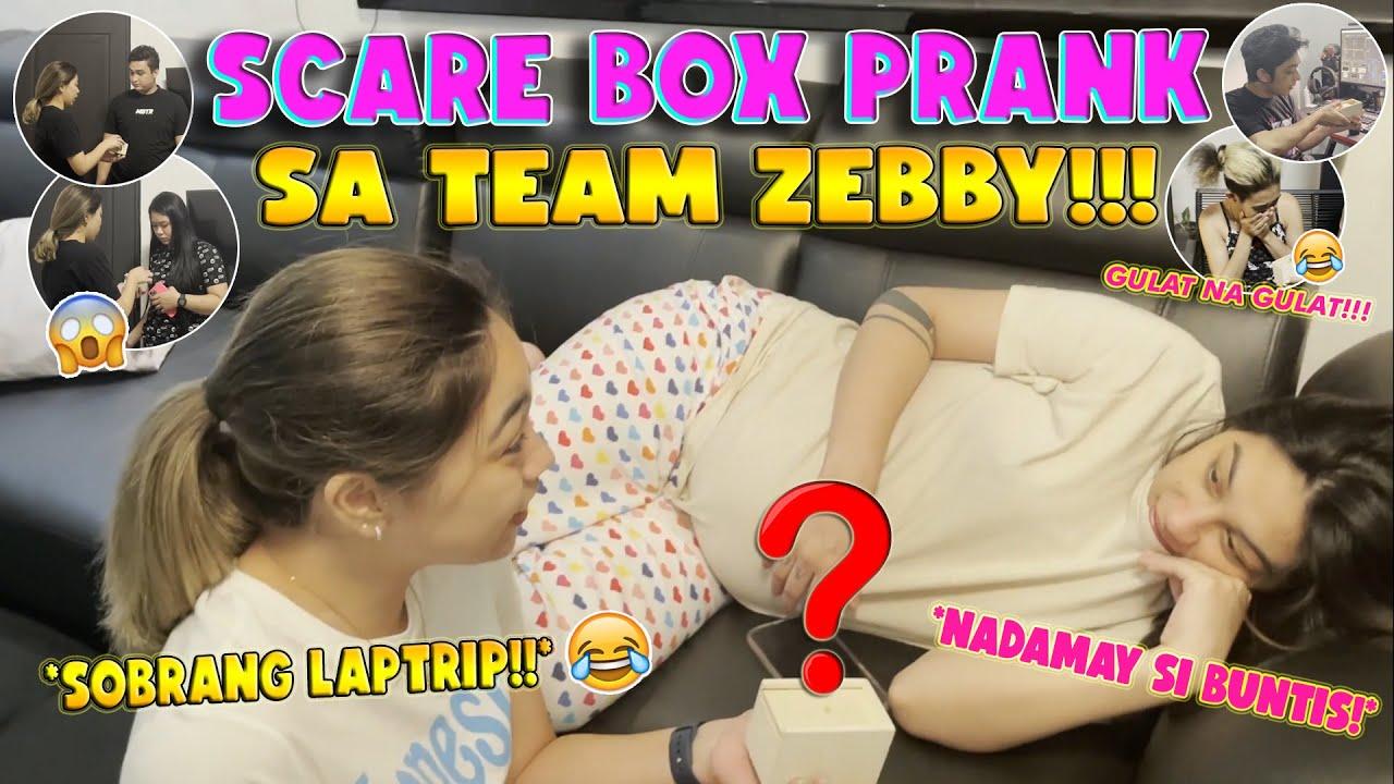 SCARE BOX PRANK SA TEAM ZEBBY (GULAT SILA HAHAHAHHA!!) | RANA HARAKE