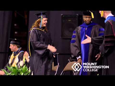 2014 Mount Washington College Graduation for Associate of Science - Psychology (AM)